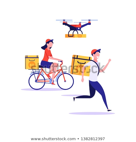 Drone delivery pizza online order stock photo © -TAlex-