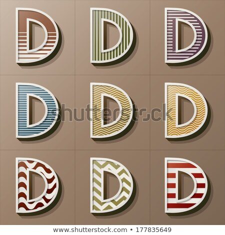 Classic old fashioned font Letter D 3D Stock photo © djmilic