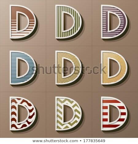 классический старомодный шрифт буква d 3D 3d визуализации Сток-фото © djmilic