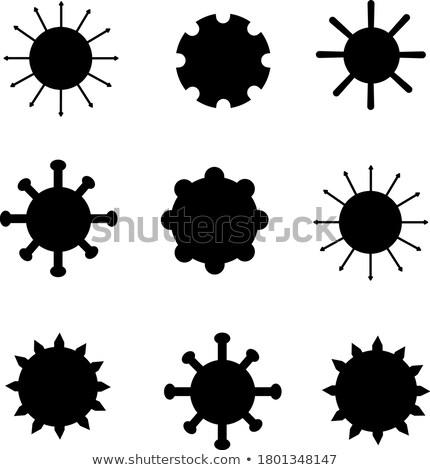 Microscopica coronavirus infezione malattia banner medici Foto d'archivio © SArts