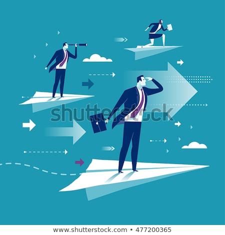 Negócio sucesso vetor metáforas criador empreendedorismo Foto stock © RAStudio