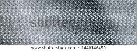 Industrial metal plate with non slip diamond surface, seamless pattern Stock photo © evgeny89