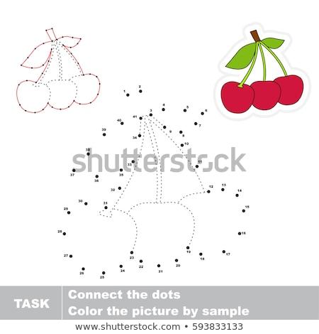 Numery gry edukacji kropka dzieci wiśniowe Zdjęcia stock © natali_brill