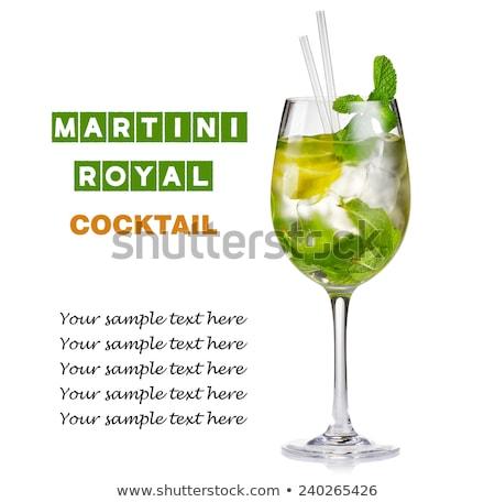 Martini коктейль извести мята льда фон Сток-фото © furmanphoto