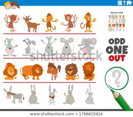 odd one out picture game with funny characters Stock photo © izakowski