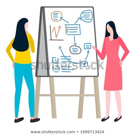 Women Investigate Market of Goods, Plan Business Stock photo © robuart