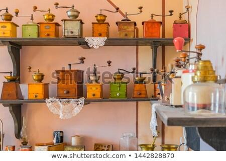 старые кофе мельница Кубок шоколадом искусства Сток-фото © premiere