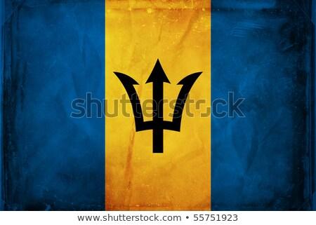 Барбадос Гранж флаг старые Vintage гранж текстур Сток-фото © HypnoCreative