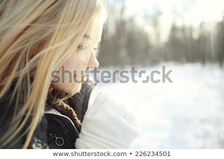 Stok fotoğraf: çekici · moda · sarışın · kız · park · bahar