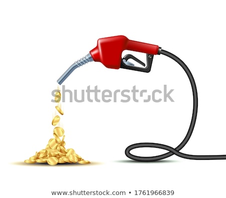 Costly gasoline: golden fueling pump isolated Stock photo © Arsgera