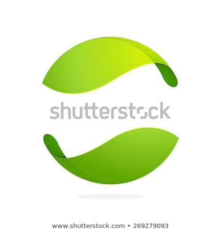 Résumé vert sphères lumière design verre Photo stock © jezper
