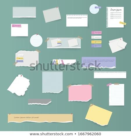цвета бумаги изолированный белый бизнеса Сток-фото © Borissos