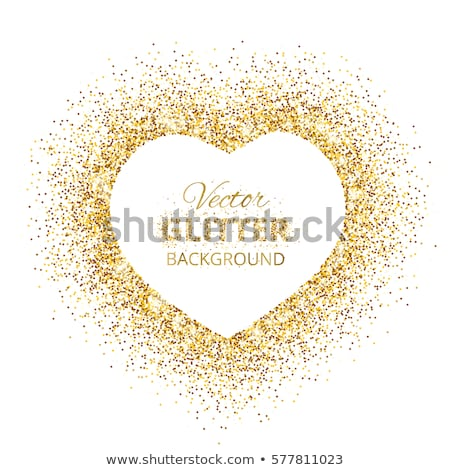 Amore in golden heart Stock photo © marinini