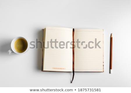 открытой книгой таблице красный образование Библии Сток-фото © AndreyKr