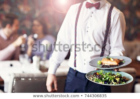 Man being served food Stock photo © photography33