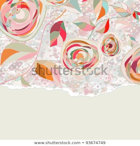 elegant greeting card template eps 8 stock photo © beholdereye