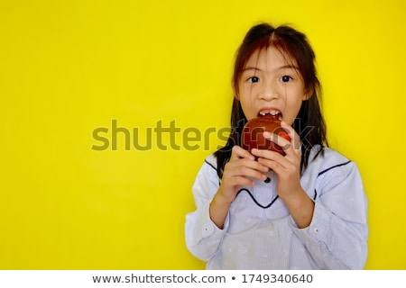 Juicy Apple Munching Stock photo © Kacpura