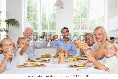 portrait of a family toasting Stock photo © photography33