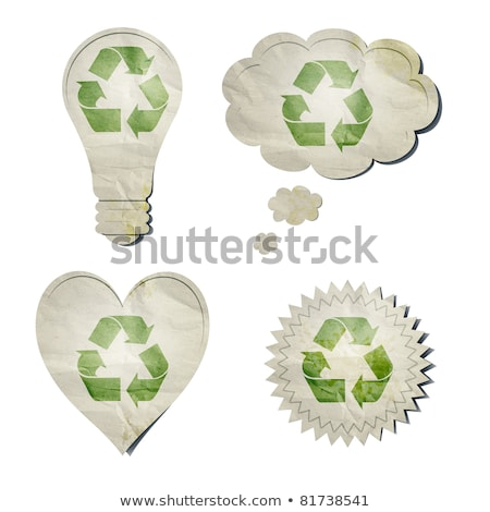 Stok fotoğraf: Light Bulb Recycled Paper Stick