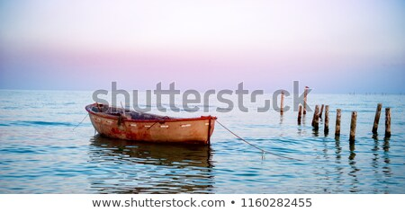 The empty boat floating on the lake. Stock photo © justinb