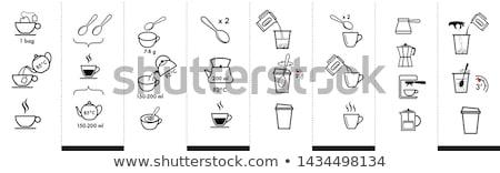 preparing coffee stock photo © taviphoto