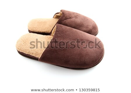 Male brown slippers Stock photo © broker