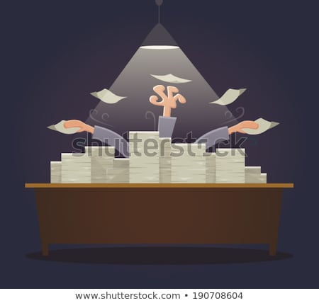 Man drowning in stacks of paperwork Stock photo © photography33