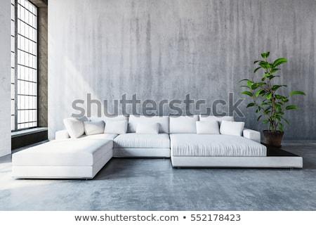 Сток-фото: современных · диван · 3D · оказанный · иллюстрация · изолированный
