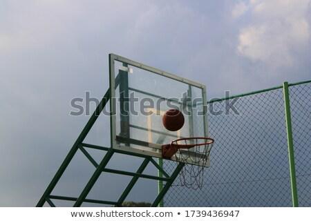 basketbal · boord · bal · hemel · zwarte · succes - stockfoto © inxti