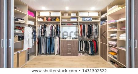 andar · robe · moderno · couro · casa · limpar - foto stock © epstock