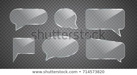 Glas geïsoleerd witte praten idee Stockfoto © MikhailMishchenko