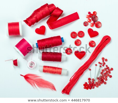 red bobbin with thread Stock photo © compuinfoto