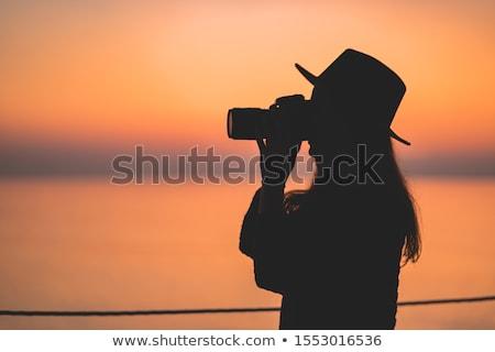 outdoor · fotograaf · silhouet · dramatisch · kleur · zonsopgang - stockfoto © stevanovicigor