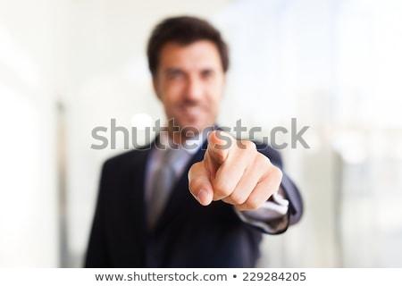 erkek · yürütme · işaret · müşteri · hizmetleri · ajan · kamera - stok fotoğraf © hasloo