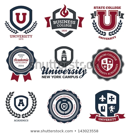 University and college crests Stock photo © mikemcd