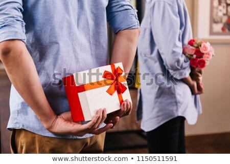 Iemand voorstel vrouw jonge vrouw ogen Stockfoto © vankad