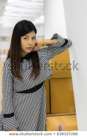 Csábító barna hajú hölgy elvesz törik nő Stock fotó © konradbak
