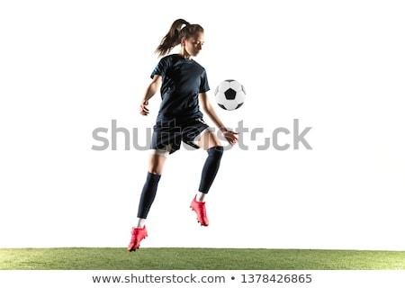 piękna · kobiet · piłkarz · piłka - zdjęcia stock © dash