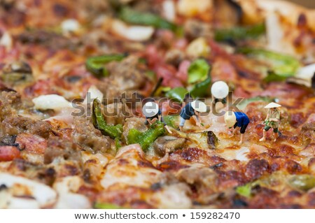 Miniatuur asian pizza veld macro foto Stockfoto © Kirill_M
