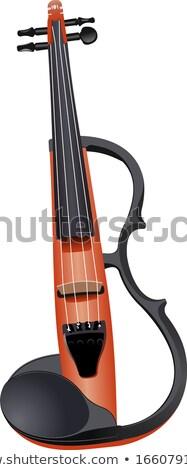 hegedűművész · játszik · zene · inspiráció · hegedű · retro - stock fotó © leonido