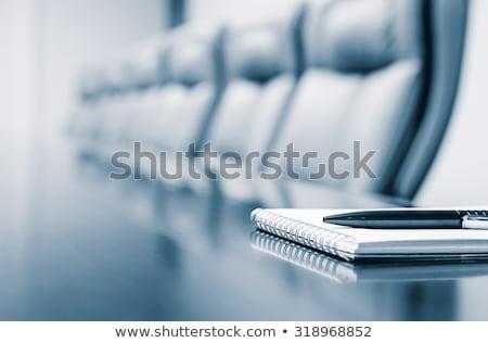 Iş gündem hazır yazı kâğıt defter Stok fotoğraf © ongap