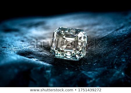 Kamień szlachetny szary 3d ilustracji niebieski rock diament Zdjęcia stock © dengess