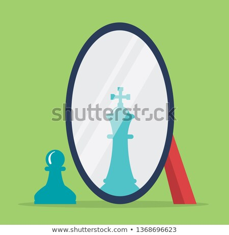 vector chess pawn with the reflection of a king Stock photo © freesoulproduction