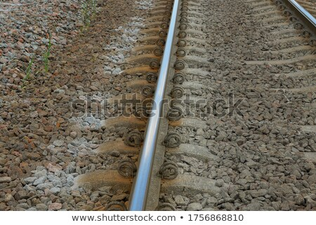 forked railroad track on grey background Stock photo © gewoldi