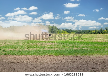 Stockfoto: Plough Agriculture Field Before Sowing