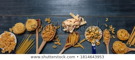 collection of raw pasta Stock photo © M-studio