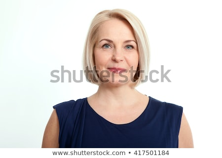 Close-up Of A Healthy Woman Isolated Over White Background Stock photo © AndreyPopov