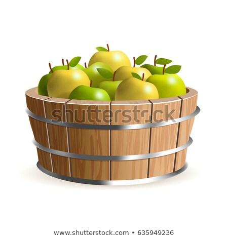apples in wooden bucket stock photo © elmiko