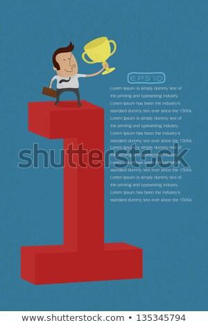 Hombre de negocios motivación eps10 vector formato negocios Foto stock © ratch0013