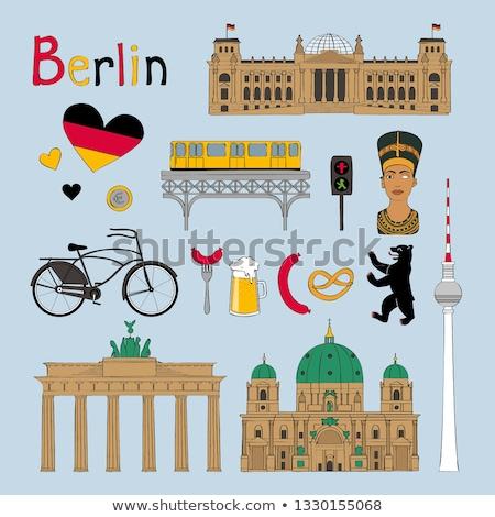 Берлине · вектора · skyline · бизнеса · город · строительство - Сток-фото © burakowski